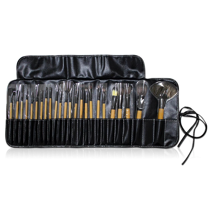 24Pcs/set Makeup Brushes Professional Soft Cosmetics Make Up Brush Set Black Brush Lipstick Beauty Brush 16pcs 14 25mm carbide milling cutter router bit buddha ball woodworking tools wooden beads ball blade drills bit molding tool