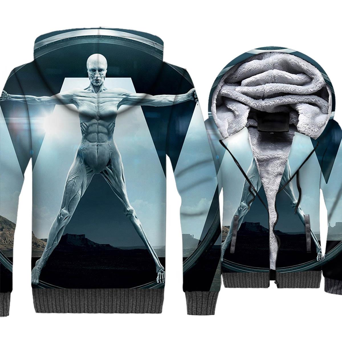 2019 new hot TV series Westworld jackets coats winter casual wool liner zipper hoodies sportswear harajuku plus tracksuits M 5XL