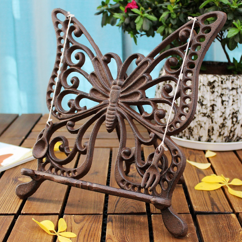 Classical Newspapers Magazines Menu Holder Rack Cast Iron Butterfly Easel Photo Frame Display Artwork Table Desk Decor MetalClassical Newspapers Magazines Menu Holder Rack Cast Iron Butterfly Easel Photo Frame Display Artwork Table Desk Decor Metal