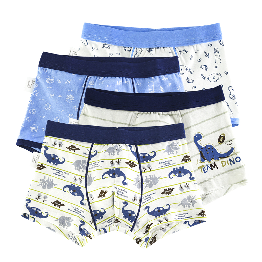 4 Piece Kids Boys Underwear Cartoon Children's Shorts Panties for Baby Boy Boxers Stripes Teenager Underpants 4-14T недорго, оригинальная цена