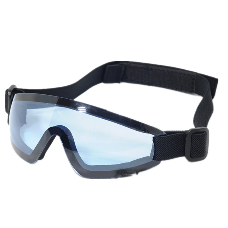 Tactial safety goggle glasses UV400 LOW PROFILE EYEWEAR BLUE Brown grey red white retail box
