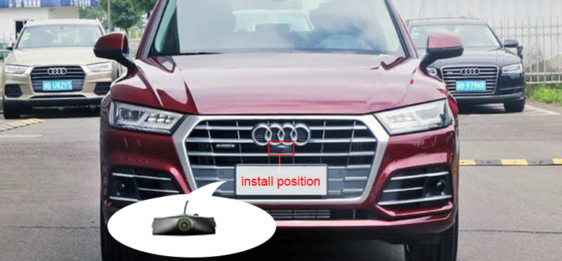 Night Vision 600L CCD Car Front View Logo Camera for Audi Q5L 2018 Emblem Front Camera Waterproof Support PALNTSC
