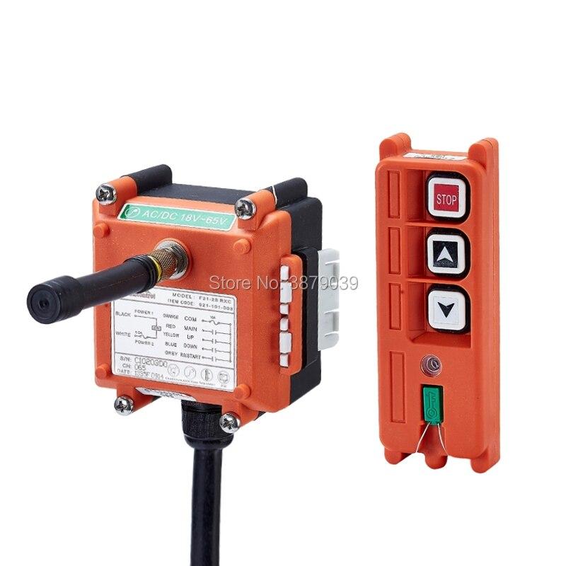 F21-2S 12V AC DC Wireless Radio Single Speed Remote Control (1 Transmitter+1 Receiver) for Crane nice uting ce fcc industrial wireless radio double speed f21 4d remote control 1 transmitter 1 receiver for crane