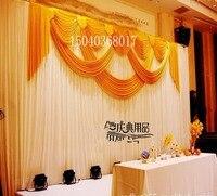 2015top sale водопад Свадебный фонов, свадебные этапе простыня цвет может быть специально декораций свадебный этап