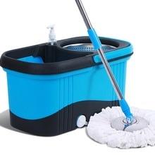 Magic Mop ถัง Easy ไมโครไฟเบอร์ Mop หมุน Mop ชั้นทำความสะอาดชุด 4 หัว mop