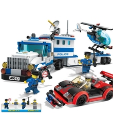 Building Block Model Police Educational Toy Child 10424 Compatible Brick Legoing Police Car Hunting Gangster 60047 lepin 18029 828pcs my worlds ocean monument underwater temple building block compatible 21136 brick toy