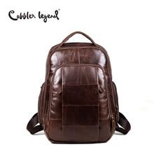 Cobbler Legend Brand 2018 Retro Style back pack Charming Genuine Leather Teenage
