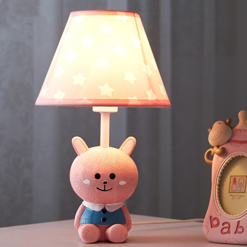 Cartoon Creative Pink Rabbit Table Lamp Girls Bedroom Children S Room Lamp Modern Simple Led Color Animal Table Lamp Led Table Lamps Aliexpress