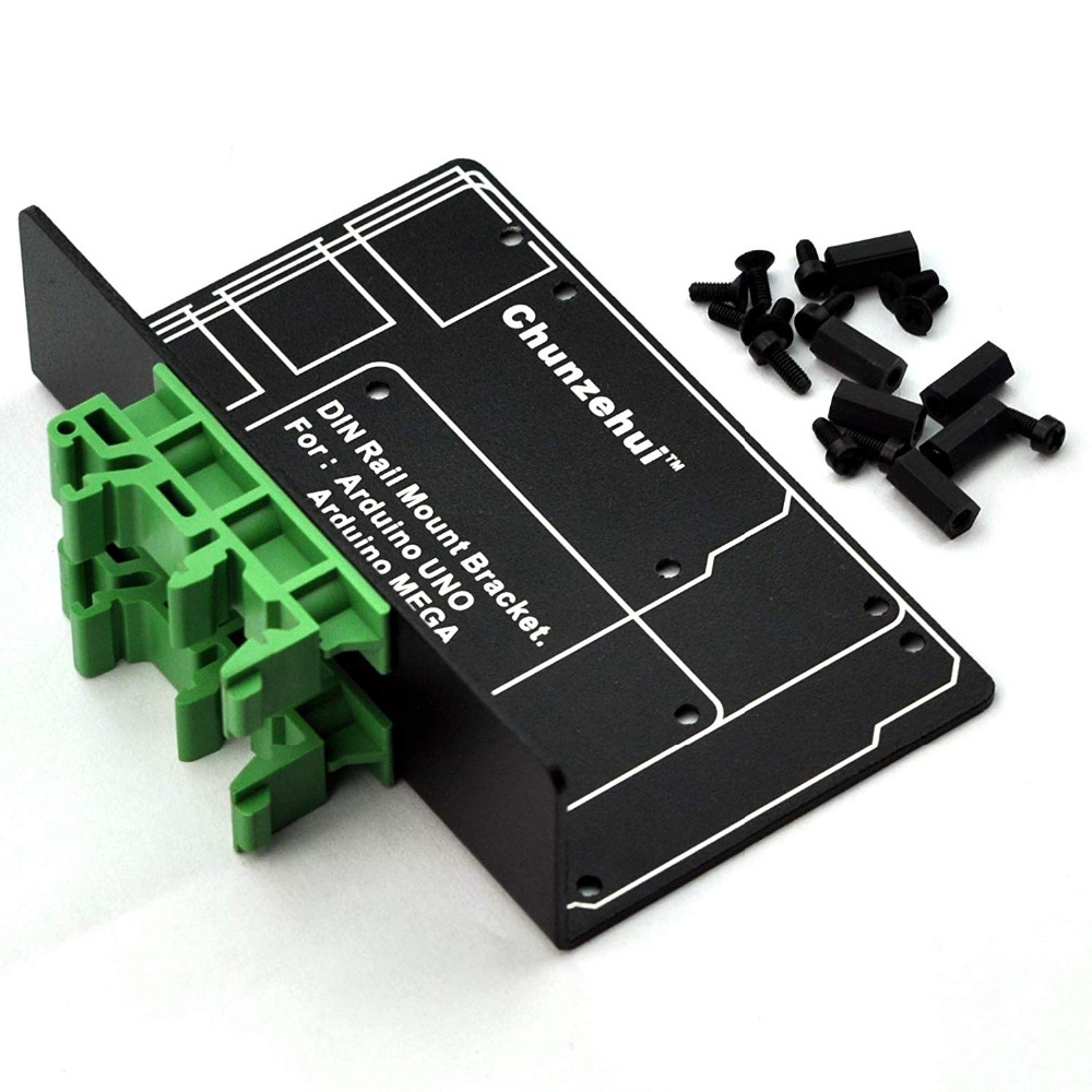 Image 2 - DIN Rail Mount Bracket for Raspberry Pi 2 3 B B+ Zero UNO MEGA.-in Terminal Blocks from Home Improvement