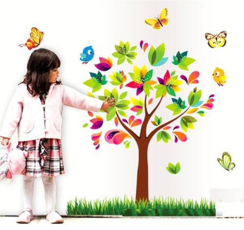 FD2473 Home Decor Craft Sticker Children Bedroom Wall DIY Sticker ~Rainbow Tree~