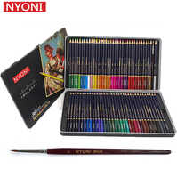 Ensemble De Crayons à l'aquarelle NYONI 36/48/72 couleurs Crayons De dessin Crayons De couleur