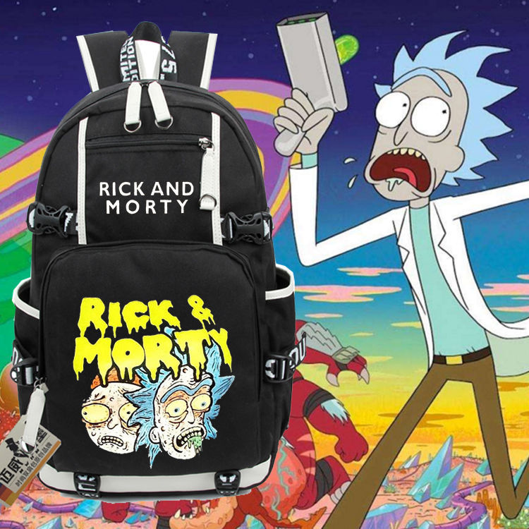 anime Cartoon Fun Rick And Morty Backpack Student School Bags travel Shoulder Laptop Bag bookbag men women Rucksack anime death note cosplay anime backpack male and female student bag travel backpack