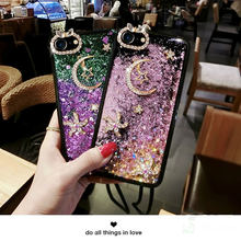 DIY Diamond Cover for Huawei P20 Pro Case Luxury Bling Liquid Quicksand Soft Cases for Nova 3e P20 Honor 7 10 Lite Y9 2018 Case(China)