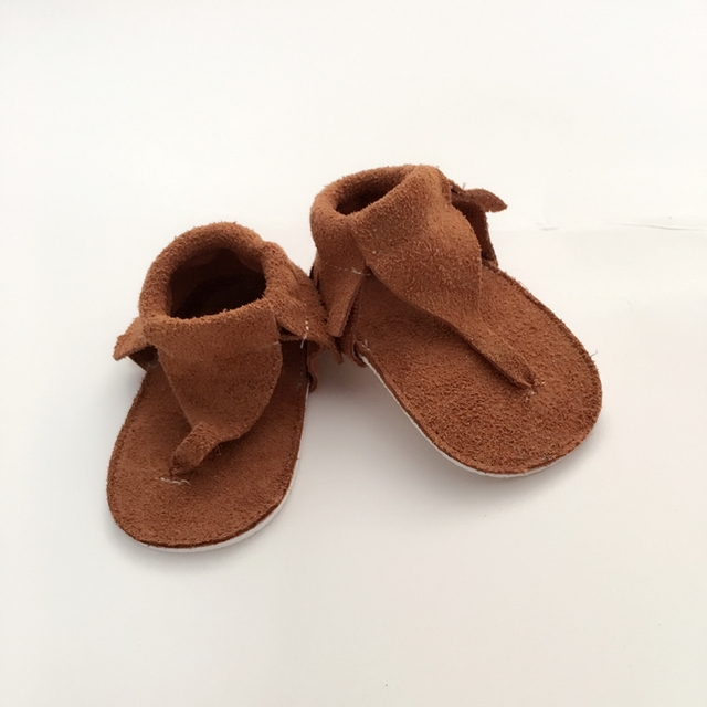 ¡ Venta caliente!!! hecho a mano Marrón Primeros Caminante zapato de Bebé De Cuero Genuino
