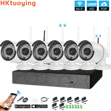 Plug and Play 6CH 1080P HD Wireless NVR Kit P2P 1080P Indoor Outdoor IR Night Vision Security 2.0MP IP Camera WIFI CCTV System sannce 4ch wireless ip camera wi fi nvr kit 720p hd outdoor ir night vision security network wifi cctv system p2p plug and play