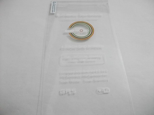 "5pcs/lot v12 screen protector for 3G Android4.0 Smartphone: 4.3"" Screen  MTK6575 MTK 6577 5MP 8.0MP"