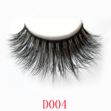 Free shipping 1 pair 3D mink eyelash 100% real mink fur Handmade crossing lashes thick full D004 lashes
