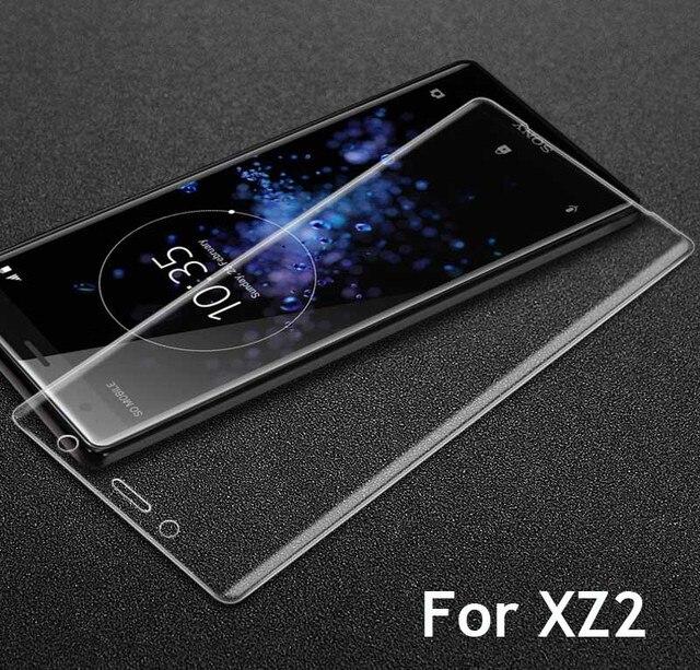 9H 3D couvercle complet verre trempé pour Sony XZ2 H8216/66/96 Film de protection décran pour Xperia XZ2 Compact H8314/24 Guard