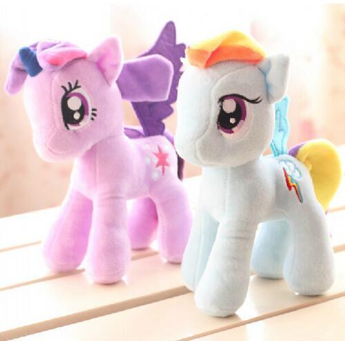 6″ 15cm Cute Rainbow Horse Toys Cartoon Toys Hobbies Stuffed Dolls