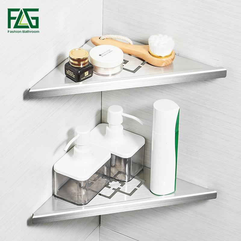 FLG Bathroom Shelve Brushed Nickel 304 Stainless Steel Wall Bathroom Shelf  Shower Caddy Rack Bathroom Accessories G210 14N