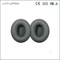 Linhuipad Ersatz Protein Kunstleder Ohr Tasse Ohrpolster Kissen grau für SOLO HD Kopfhörer ohrpolster 1 paar