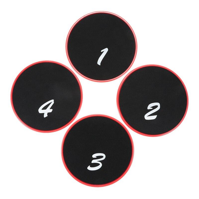 4Pc Fitness Gliding Discs Gym Slider Fitness Disc Exercise Core Slider Cross Training Sliding Disc Fitness Equipment