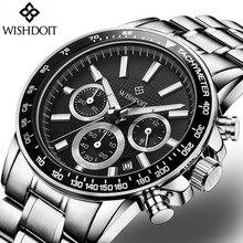 WISHDOIT Men Watches Fashion Brand Multifunction Chronograph Quartz Watch Men Military Sport Wristwatch Relogio Masculino Clock стоимость