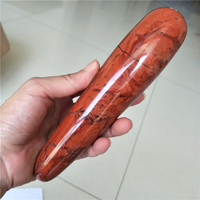 luxury long red jasper crystal stone wand large long Natural quartz crystal massage wand yoni wand for health healing crystals