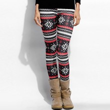 Snowflake Print Women Winter Leggings Thicken Warm Slim Skinny Leggings Sexy High Waist Fitness Legging Legins Women Plus Size