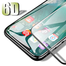 6D Full Cover Tempered Glass Film For iphone 7 8 6 s Plus XS MAX Protective Glass Film For iPhone XR Xs Max HD Screen Protector(China)