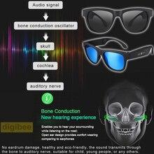 Cool Smart Touch Control UV400 Polarized Sunglasses Bone Conduction Bluetooth 4.0 Wireless Headset Stereo Music Earphone w/ Mic