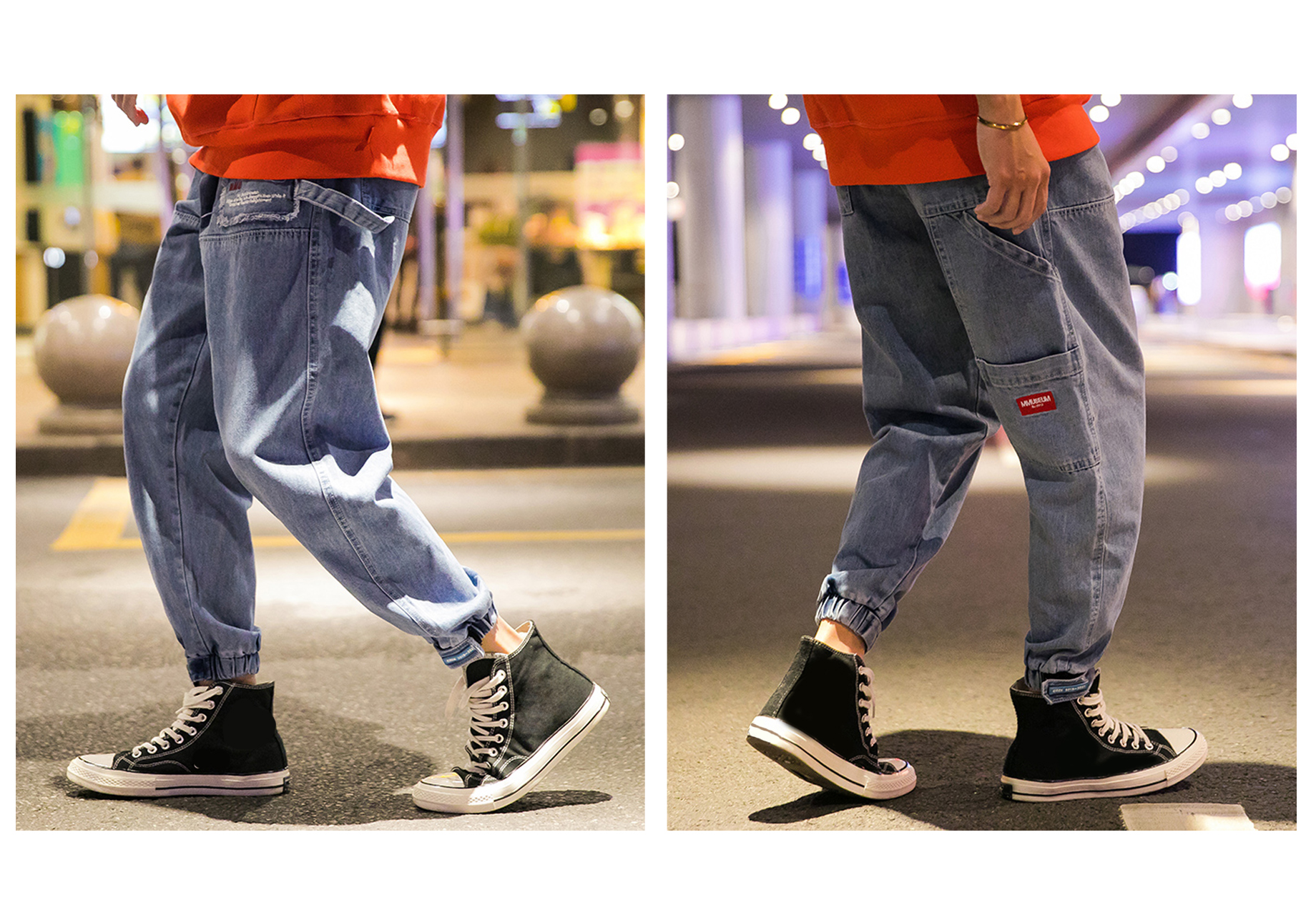 Men's Jeans Denim Pants Retro Washed Trousers Classic Casual Work Wear Street Fashion Trend Hip Hop For Adolescents Young Boys