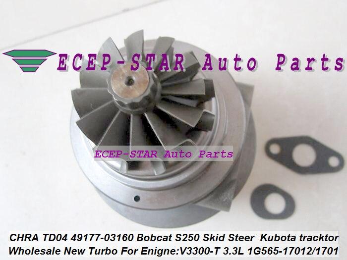 Turbo Cartridge CHRA TD04 49177-03160 1G565-17012 49177-08130 For Bobcat S250 (5)