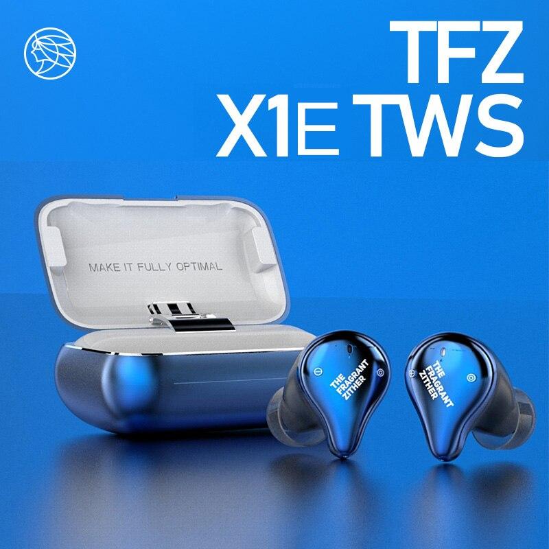 TFZ X1E ture sans fil Bluetooth 5.0 pilote dynamique IPX7 étanche HiFi dans l'oreille écouteur avec boîte de charge TWS pour iOS Android