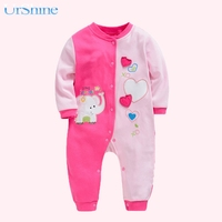 2018 Romper Baby Long Sleeve Cotton Infant Clothes Cartoon Printed Newborn Baby Cartoon Printed New Born