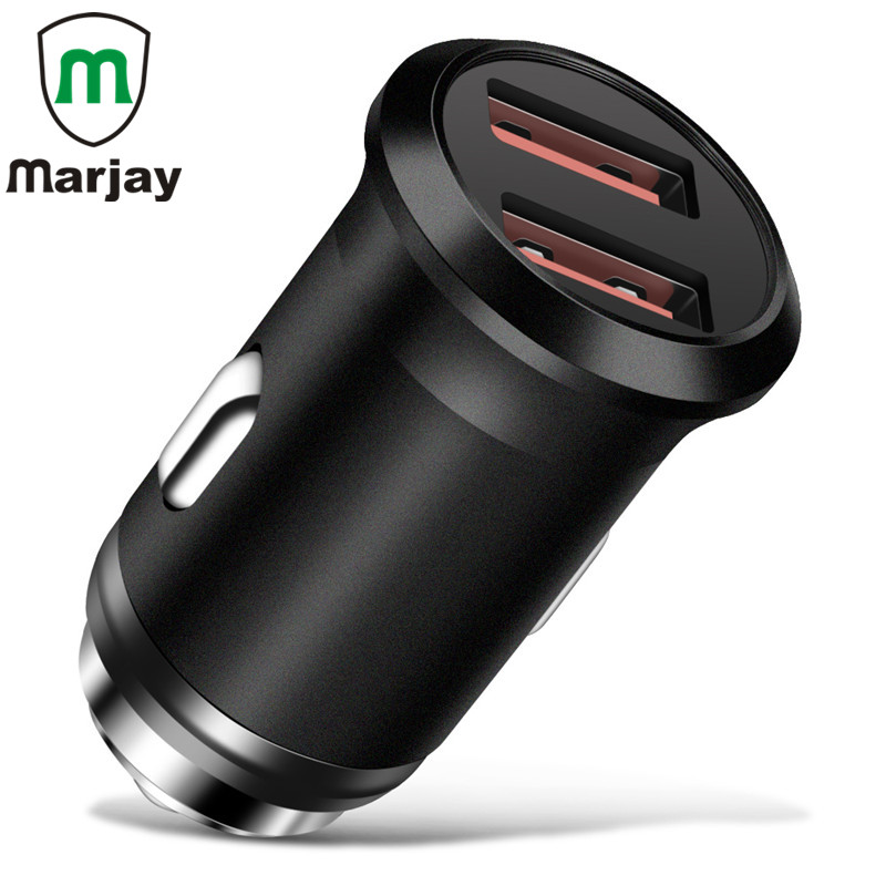 Dual USB Car Charger For Mobile Phone Tablets Portable Mini 2.4A Fast Charger Adapter For Samsung Xiaomi Huawei GPS Car-Charger
