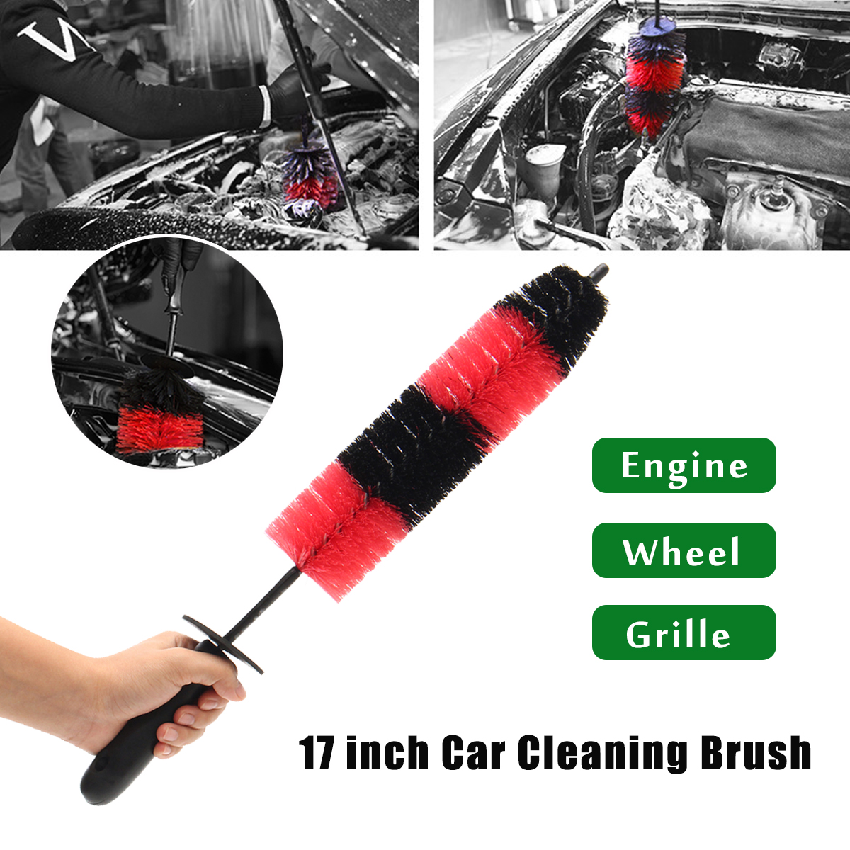 430mm Long Car Grille Wheel Engine Brush Wash Microfiber Cleaning Detailing Automotive Cleaning Tool цена