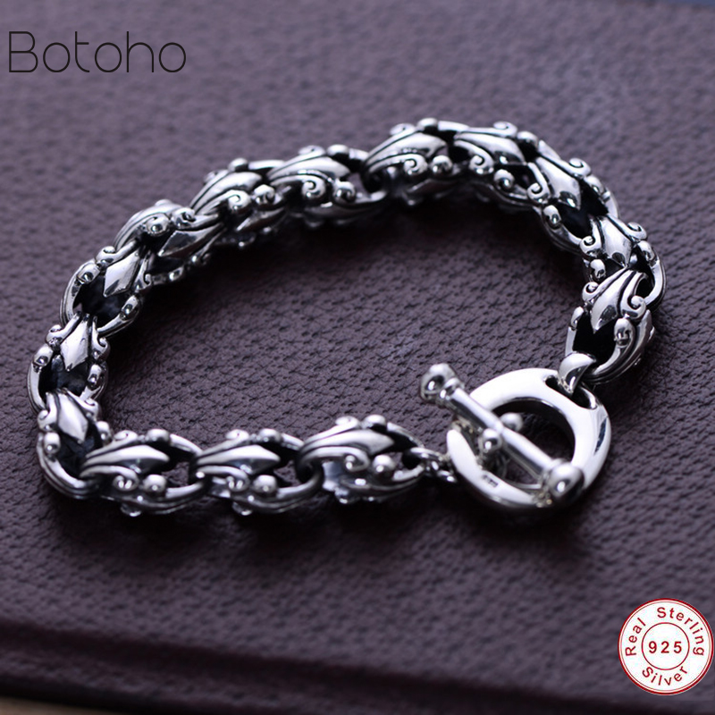 Men Bracelet 925 Sterling...