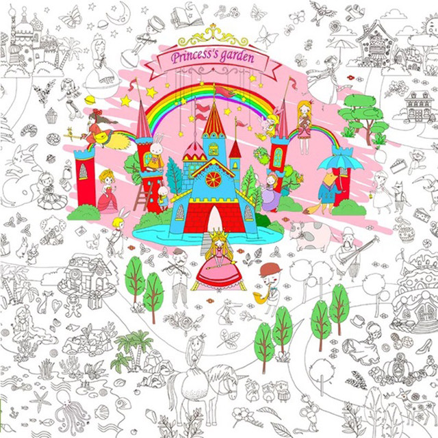 Online Shop 115080m Childrens Coloring Book Scene Painting Theme Graffiti Miaohong This Baby Great Drawing Paper 115m