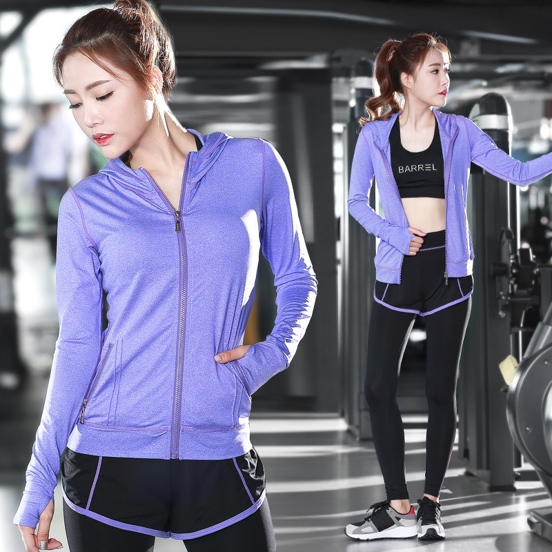 Women Yoga Fitness Sports Sets Gym Workout Sportswear 3pcs/Set Tracksuits Long Sleeved Yoga Suit Slim Exercise Shockproof Bra new yoga suit fitness sportswear running exercise tracksuits for women yoga sets breathable jacket t shirt bra pants sport suits