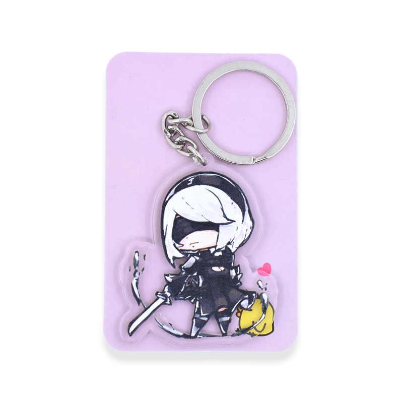 NieR Automata 2B брелок милый Inuyasha человек паук Двусторонняя CHIBI индивидуальный заказ аниме брелок для ключей PCB9-16