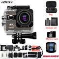 Caméra d'action RICH F68/F68R Novatek 96660 4 K 24FPS 20MP alerte vocale coup de nuit caméra vidéo WIFI télécommande Mini caméra