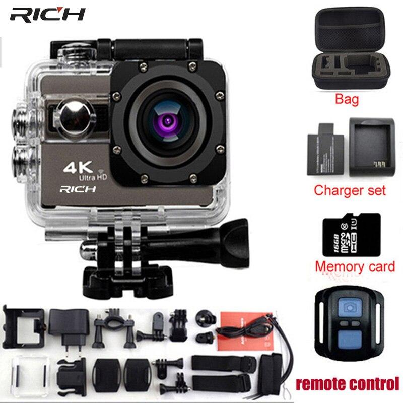 RICH F68 / F68R 액션 카메라 Novatek 96660 4K 24FPS 20MP 음성 경보 야간 촬영 WIFI 비디오 카메라 원격 제어 미니 카메라