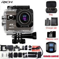 RICH F68/F68R Action Camera Novatek 96660 4K 24FPS 20MP Voice Alert Night Shot WIFI video Camera Remote Control Mini Camera