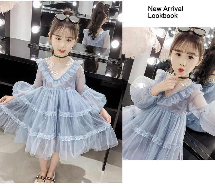 Girls White Dress Long Sleeve Robe Princesse Enfant Fille Robe Fille 12 Ans 2019 Spring New Dresses Aliexpress