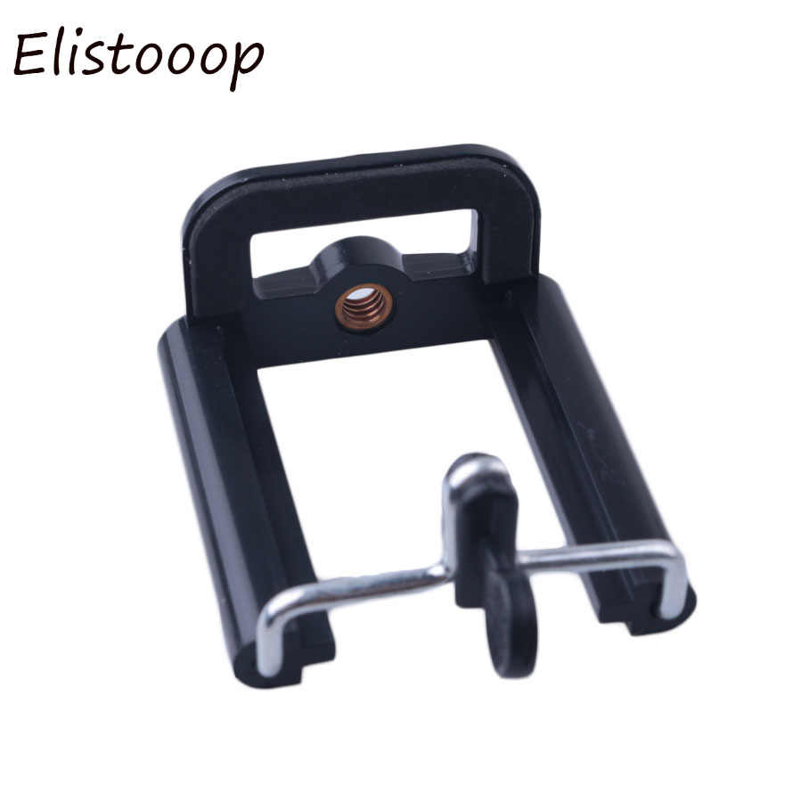 Elistooop Camera Statief Stand Adapter Moblie Telefoon Clip Beugel Houder Statief Monopod Stand voor Smartphone