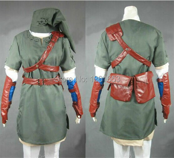 Customized Legend of Zelda Women size COS zelda costumes Halloween party coaplay role playing game playing