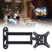 1pc Universal Full Motion TV Wall Mount Swivel Bracket Support 30 KG for 10 32Inch LED LCD Flat Screen TV