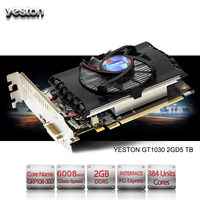 Yeston NVIDIA GeForce GTX 1030 GPU 2GB GDDR5 64 Bit Gaming Desktop Computer PC Video Graphics