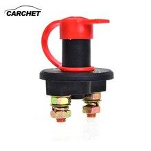 Carchet оригинальный Батарея отрезать Мощность выключатель изолятор 400a 24 В + ключ + Водонепроницаемый изолятор покрытие автомобиля Настенные переключатели универсальный